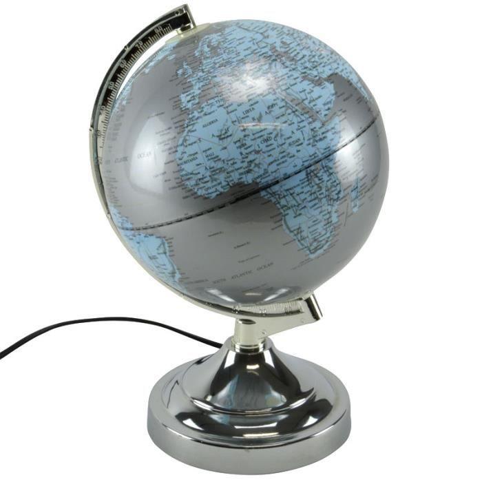 Monde Diametre Globe 20cm Du Terrestre Lampe Boule Led De Touch Carte oQBxdCWre