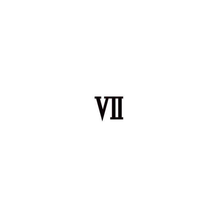 Chiffre Romain 4 chiffre romain 7 sept - autocollant sticker noir adhésif ref68