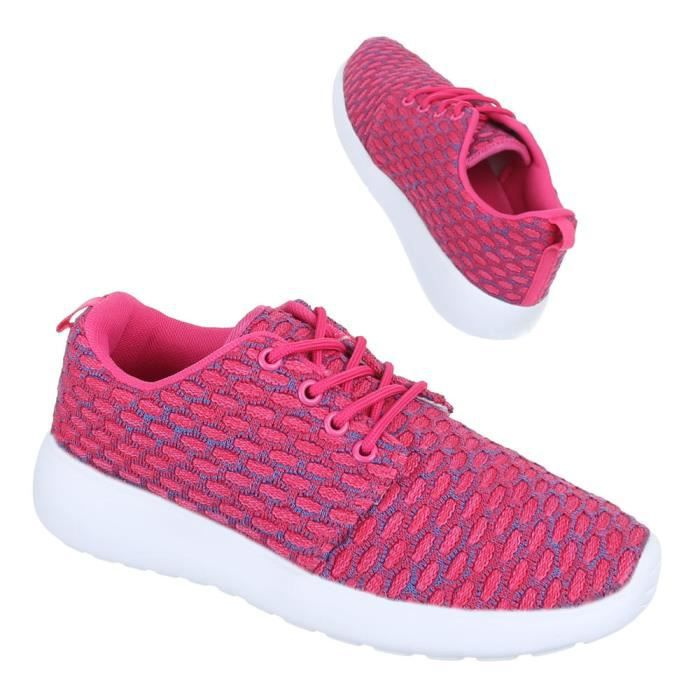 Femme chaussures loisirs chaussures Sneakers chaussures de sport rose 37