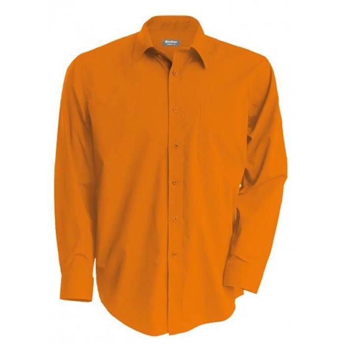 ec16a979faad5 Chemise homme orange manches longues - Achat / Vente pas cher