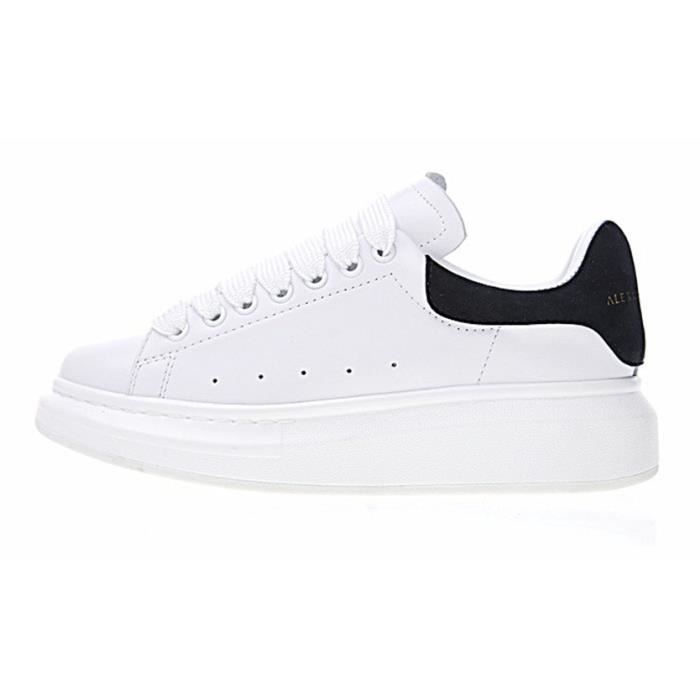 0f27ad34216 alexander mcqueen Chaussures Femme Homme de Multisports Outdoor Homme Course  Casual Sneakers Blanc Cuir Baskets