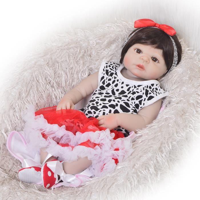 561a039d59c5b 57 cm Plein Silicone Reborn Baby Dolls Bébé En Vie Réaliste Réel Réaliste Enfants  Filles Poupée Jouets