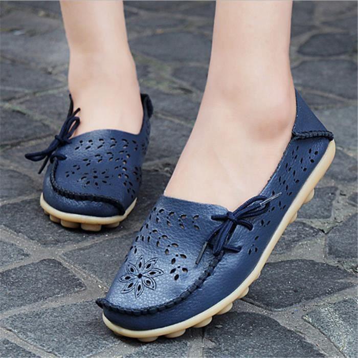Moccasin Femme csemelles de Caoutchou Extravagant Les chaussures de loisirs Ajouré Moccasins Femmes d'été Plus De Couleur