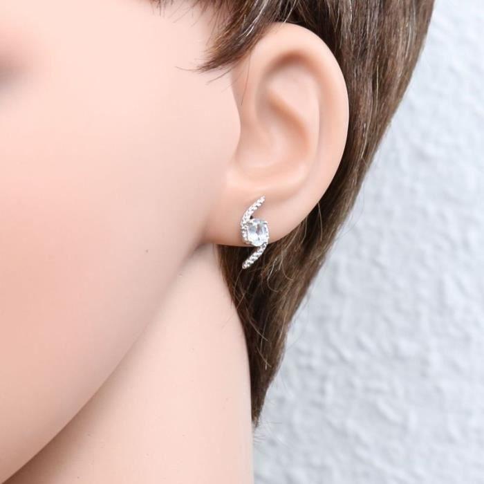 Boucles d oreilles Argent 925 Amethyste ref 45201 Violet