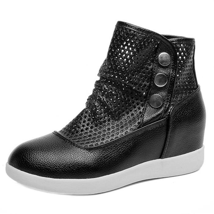 Bottes Respirant Occasionnelle Chaussures Sauvages Au Augmenter Qinhigs2018110142 Creuses Femmes trqY5pxtw