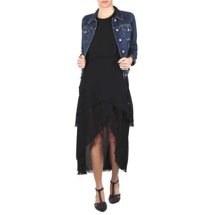 SPACE STYLE CONCEPT FEMME P18SMAB01201TGBLACK NOIR POLYESTER ROBE