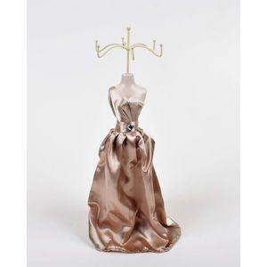 Présentoir bijoux Porte bijoux Mannequin- H 40 cm - Crème