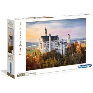 PUZZLE Puzzle 6000 pièces : Neuschwanstein aille Unique C