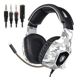CASQUE AVEC MICROPHONE Casque d'écoute stéréo pour Xbox One et PS4, Casqu