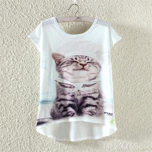T-SHIRT Femme Fille Léger Tee-Shirt T-Shirt de Plage Tops