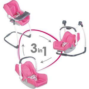 LANDAU - POUSSETTE SMOBY Bébé Confort Chaise Haute 3 en 1