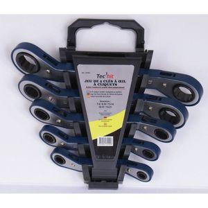 CLE A CLIQUET TEC HIT Jeu de 5 clés à œil à cliquet 8 à 21mm