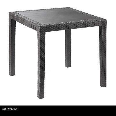 Jardin Imitation Rotin Terrasse Plastique Extérieur Carre Table 3lJc1FKT