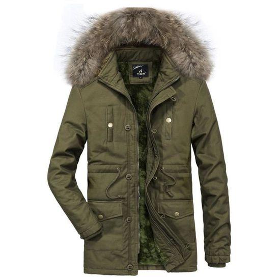 Top Velours Ajouter Outwear Automne Verte Armée Hiver Thickencoat Casual Hommes Réchauffez Capuche Chemisier p1RTqn