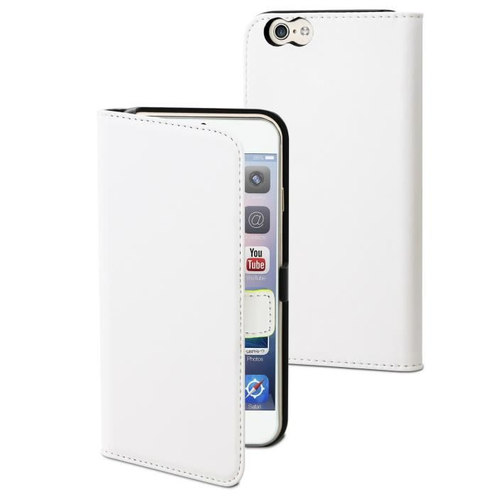 MUVIT Etui Slim Folio Blanc Pour Apple Iphone 6-6s