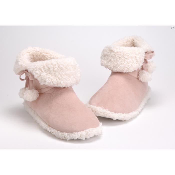 Chaussons ponpons 39/40 rose