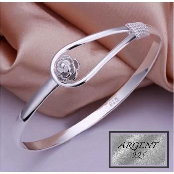 Bijoux Bracelet Design Petite Fleur ARGENT 925°