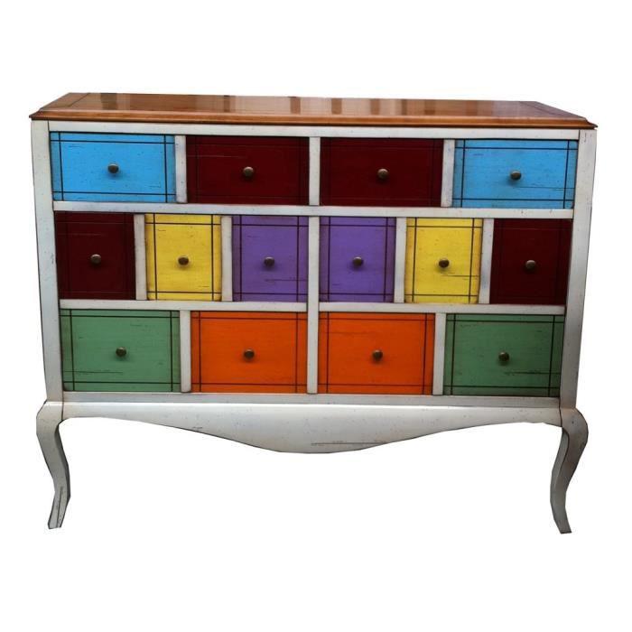 Meuble couleurs à tiroirs NEO18   Achat / Vente meuble d'entrée