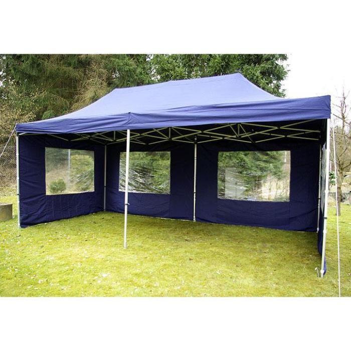 pavillon de jardin bleu 3 x 6 m achat vente tonnelle barnum pavillon de jardin bleu 3 x. Black Bedroom Furniture Sets. Home Design Ideas