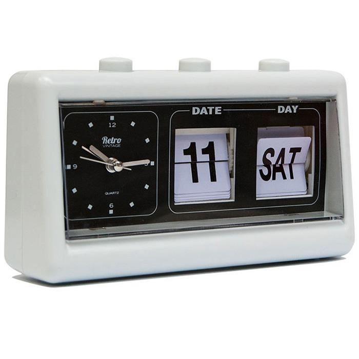 r veil r tro vintage dateur blanc achat vente r veil sans radio cdiscount. Black Bedroom Furniture Sets. Home Design Ideas