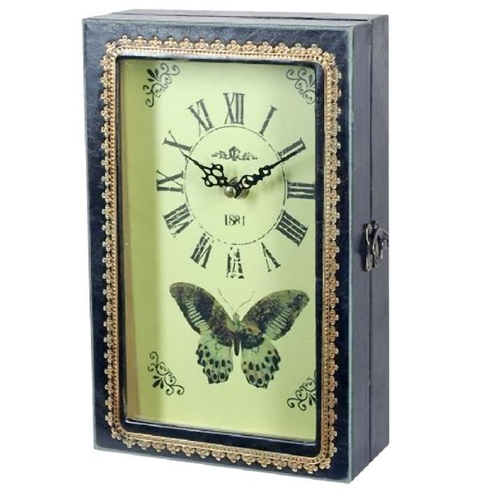 Horloge Porte-clés Vintage Papillon