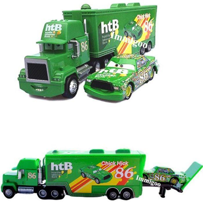 Cars Chick Hicks Jouet Voitures Cadeau Transporteur Véhicules Noel Mack 11 86 2 Truckc Enfant Hauler Immigoo® Camion Racing C 3A4Lj5R