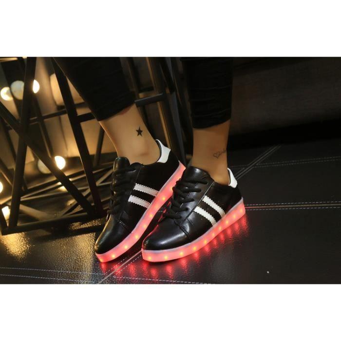 8 Multicolore USB Rechargeables LED Lumière Lumineux Clignotants Chaussures de Sports Baskets pour