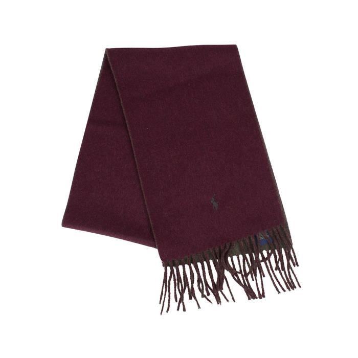 Polo Ralph Lauren Homme Classique Echarpe Logo Reversible, Rouge ... 63ef9745186