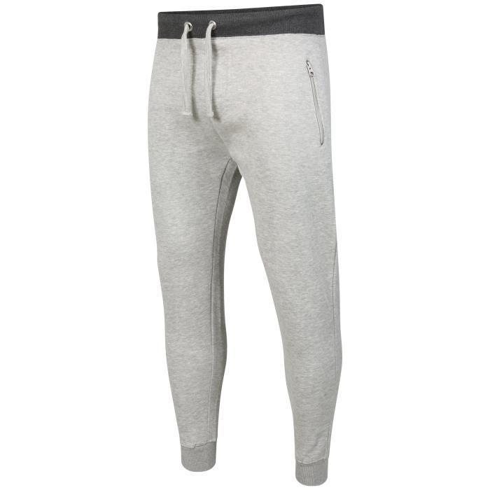 Bas de survêtement Slim Fit pour hommes, vêtements de fitness, cordon de  gymnastique vêtements jogging poche zip jogg 1HCWKA Taille 8dd991c0de4a