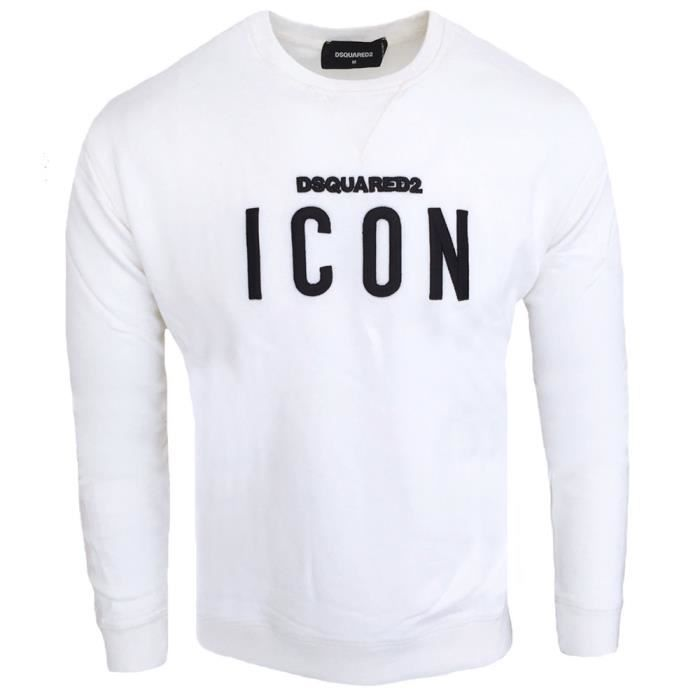 Pull Dsquared ICON homme Pull DS74 blanc Blanc Blanc - Achat   Vente ... 972ffd81633d