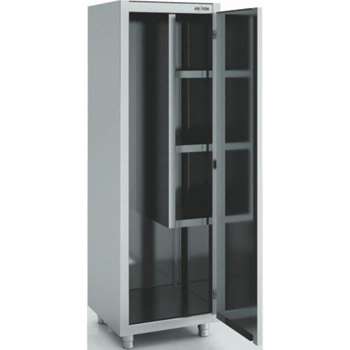 armoire d 39 entretien et balais en inox 18 10 dimensions l600 x p450 x h1900 mm eratos achat. Black Bedroom Furniture Sets. Home Design Ideas