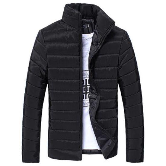 Hommes D'hiver Éclair Coton Veste Pied Manteau Épais Fermeture Chaud p1xpr