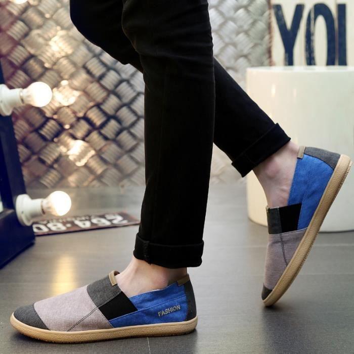 chaussures multisport Homme Printemps AutomneFlats Slip sur Snekers rouge taille10 2weZcZ