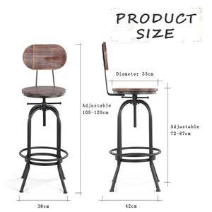 Meuble style industriel achat vente pas cher - Chaise de bar style industriel ...
