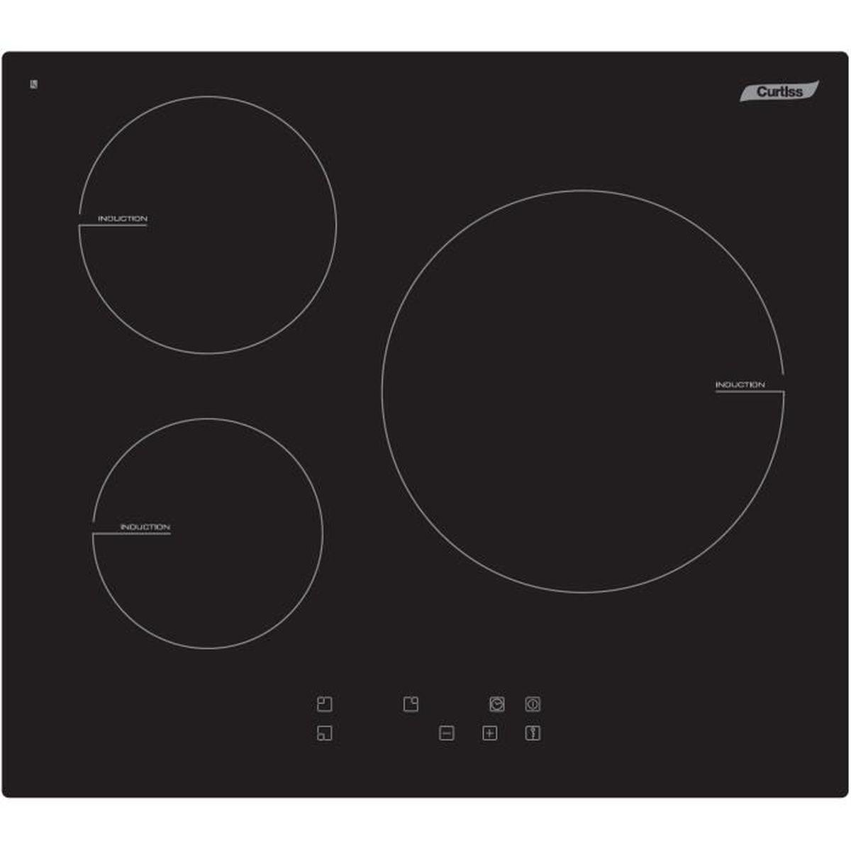 table de cuisson induction curtiss mi358 s achat vente. Black Bedroom Furniture Sets. Home Design Ideas