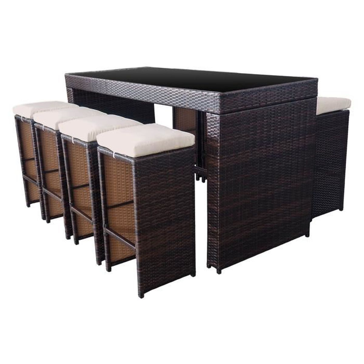 table a manger jardin 8 places achat vente table a manger jardin 8 places pas cher cdiscount. Black Bedroom Furniture Sets. Home Design Ideas