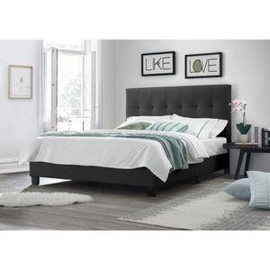 lit double 160x200 achat vente pas cher. Black Bedroom Furniture Sets. Home Design Ideas