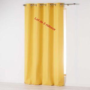 RIDEAU Lot de 2 rideaux a oeillets 140 x 260 cm microfibr