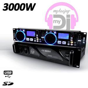 PLATINE DJ Double Lecteur contrôleur MP3 avec double USB + do
