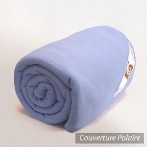 COUVERTURE - PLAID Couverture polaire240x300cm Teddy, Lavande - ...