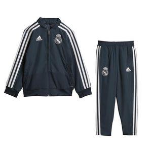 TENUE DE FOOTBALL Survêtement Présentation Real Madrid Bleu Junior