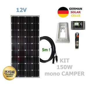 KIT PHOTOVOLTAIQUE Kit 150W CAMPER 12V panneau solaire monocristallin