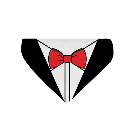 7e9d0aa4a363 Bandana pour chien costume noeud papillon rouge - Achat   Vente ...