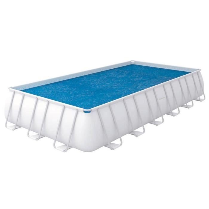 BESTWAY Bâche solaire 703x366cm pour piscine Frame Pool 732x366cm