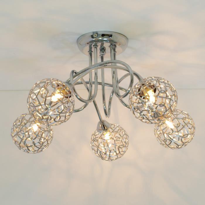 plafonnier 5 boules aphyse achat vente plafonnier design 5 boules aluminium soldes. Black Bedroom Furniture Sets. Home Design Ideas