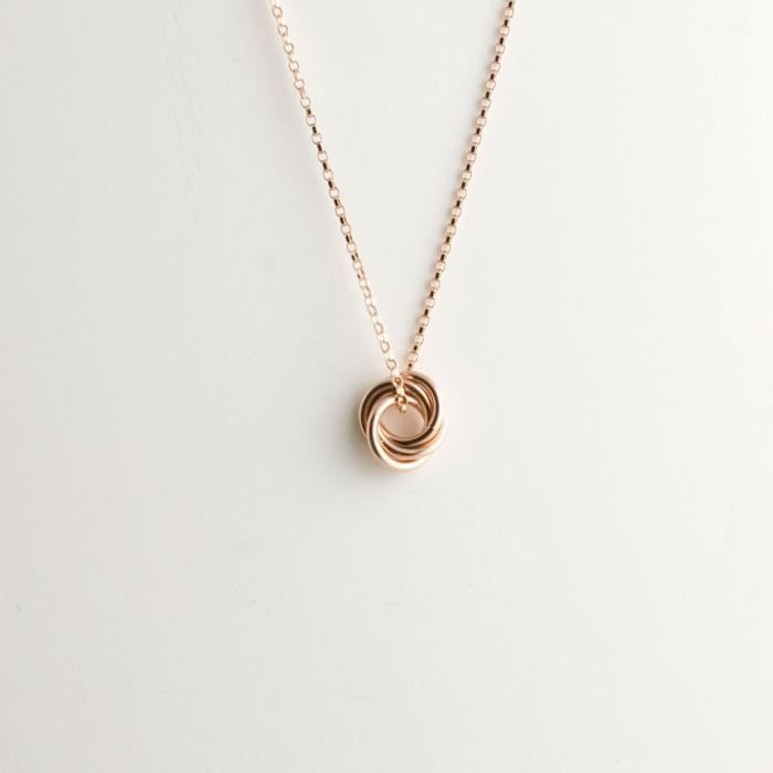 Craze Mini Amour Collier Knot - Or Rose Filll