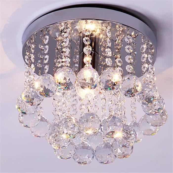 Luxe crystal chandelier chambre lumi re int rieure avec cristaux k9 d15cm lustre achat vente - Lustre pour chambre ...