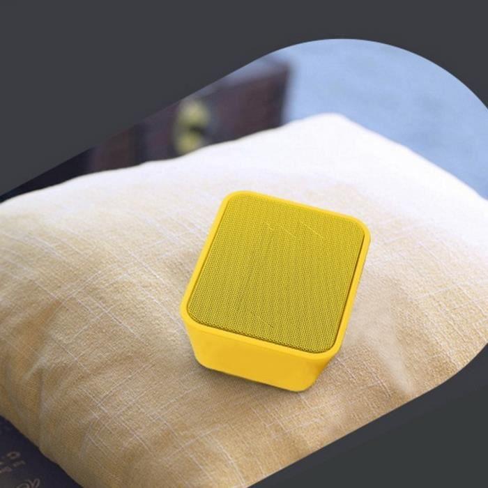Enceinte Bluetooth Portable Haut-parleur Extérieur Étanche Sans Fil Rechargeable Subwoofer Jaune