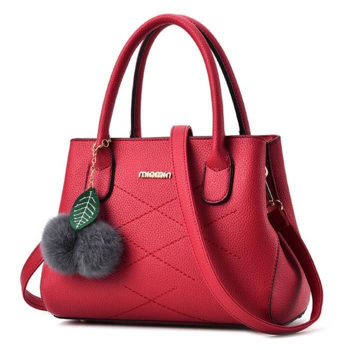 Sac cuir femme de marque sac à main De Luxe Femmes Sacs Designer pochette femme marque luxe qualité supérieure rouge