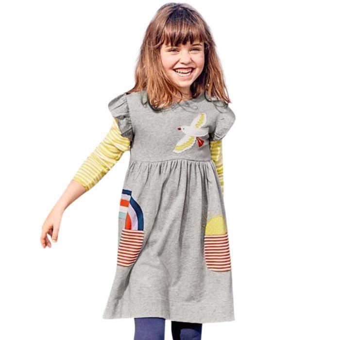 161876439374e Manches Fille À Oppapps® petit Enfant Robe Ruffles Outfit7023 Tout Bébé  Vêtements Motif wnIHIxzq